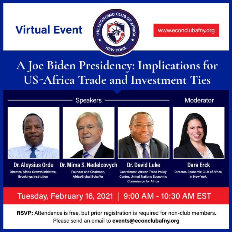 Event: A Joe Biden Presidency: Implications for US-Africa Trade and Investment Ties