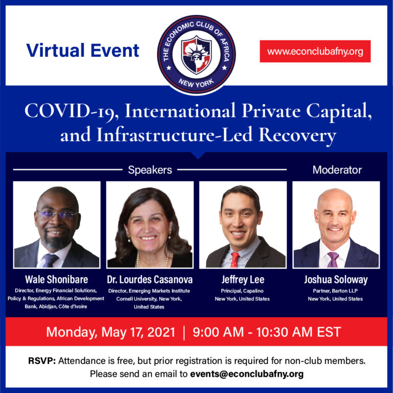 Event: COVID-19, International Private Capital, and Infrastructure-Led Recovery